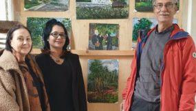 রাশিয়ার পোকরোতে নার্গিস সোমা র  একক চিত্র প্রদর্শনী