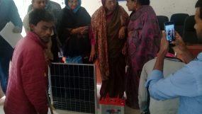 মৌলভীবাজারে দুস্থদের মধ্যে জোহরা আলাউদ্দিন এমপির সোলার বিতরণ