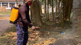 করোনা আতঙ্ক: মৌলভীবাজারে   বাড়ছে স্প্রের ব্যবহার