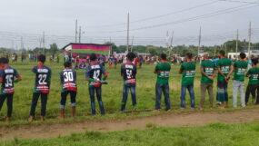 মৌলভীবাজারে করোনা আতঙ্কের মধ্যে মনোবল বাড়াতে ফুটবল টুর্ণামেন্ট
