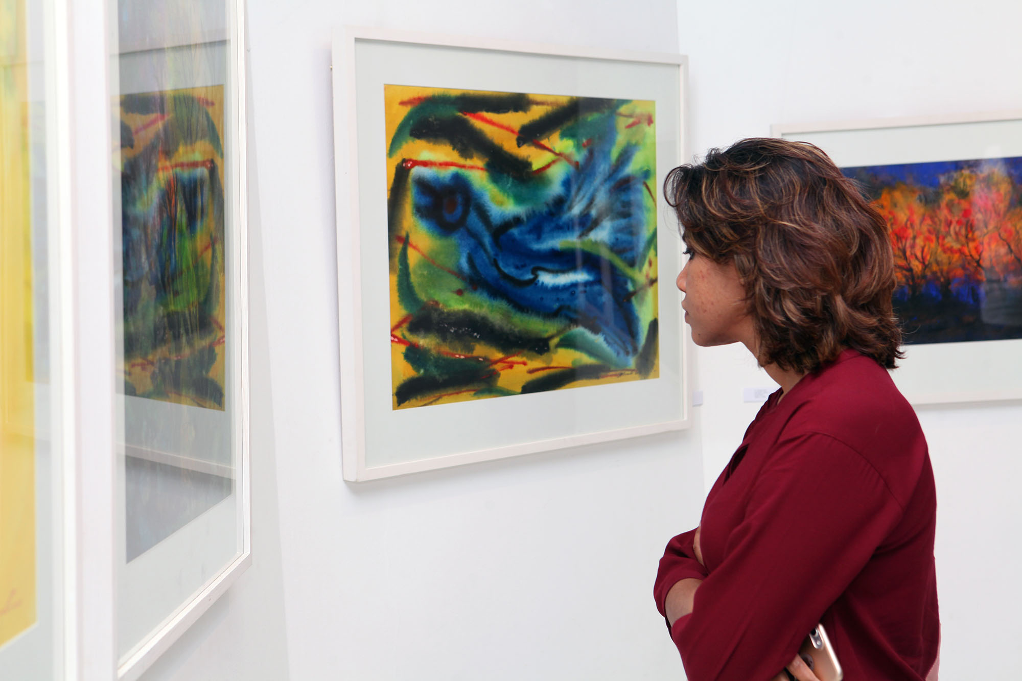The group painting exhibition at La Galerie
