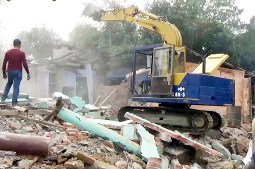 start evicting illegal infrastructure in Habiganj