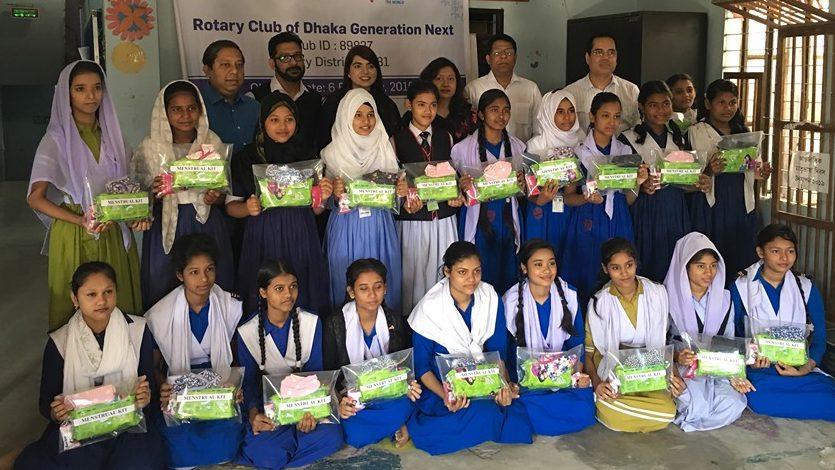 ২০ জন ছাত্রীকে  সামগ্রী প্রদান করেছে রোটারী ক্লাব অফ ঢাকা জেনারেশন নেক্সট