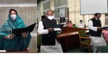 শপথ নিলেন নবনির্বাচিত সংসদ সদস্য কাজী মনিরুল ইসলাম এবং মো: আনোয়ার হোসেন