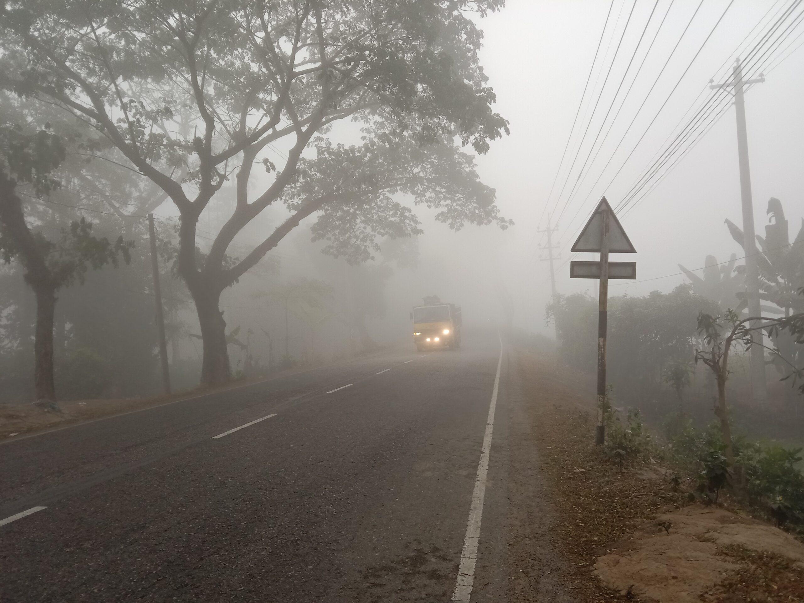 মৌলভীবাজার জেলা জুড়ে ঘন কুয়াশার দাপট