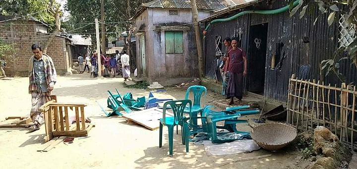 সুনামগঞ্জের শাল্লায় হিন্দুদের  ঘরে হামলায় মামলা